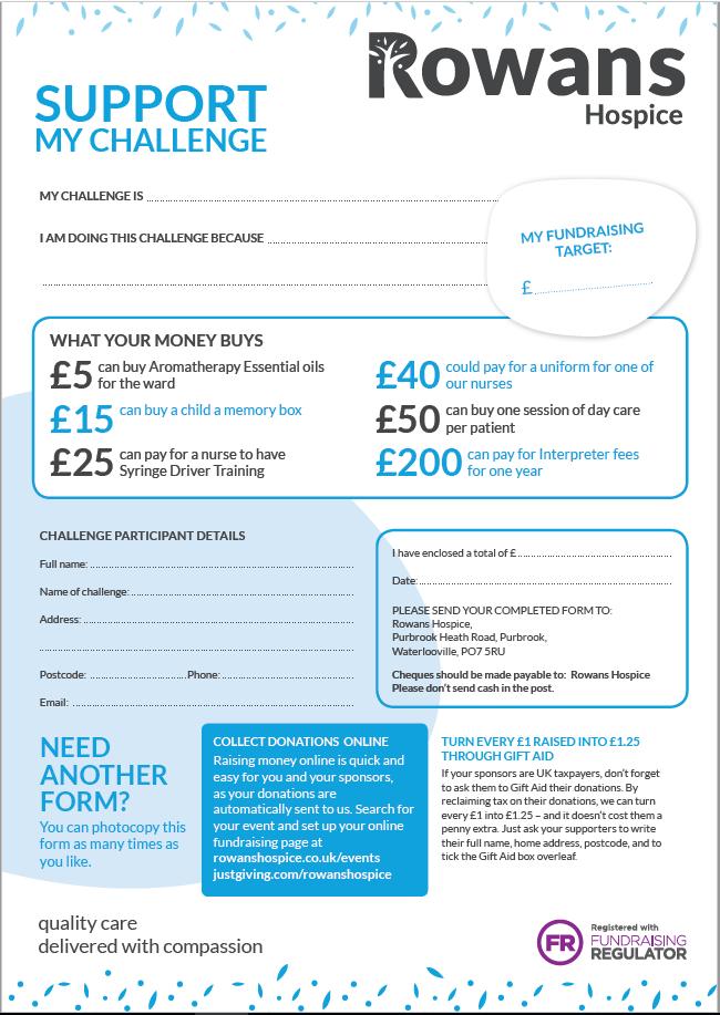 sponsorship form
