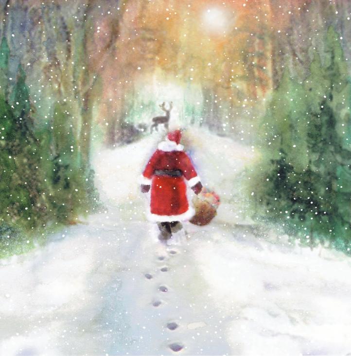 Christmas Cards 2018 - Santa\'s Path Home - Rowans Hospice : Rowans ...
