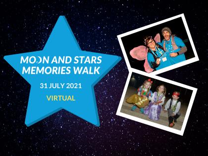 Website homepage Moon and Stars virtual
